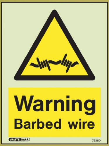 (7536D) Jalite Warning Barbed wire